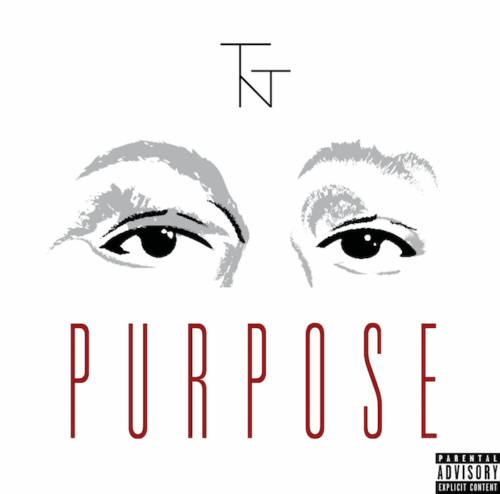 "Album cover art design of rapper/singer 2flytnt featuring the ""TNT"" logo and an illustration of her eyes."