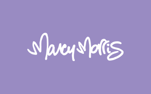 Logo featuring a hand-written signature of Marcy Morris.